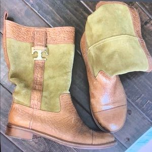 Tory Burch size 10 suede and leather boot.